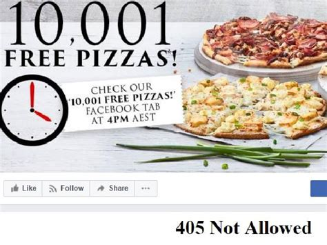 Domino S Pizza Giveaway Quickly - domino s free pizza giveaway promotion fails as customers are left pizza less