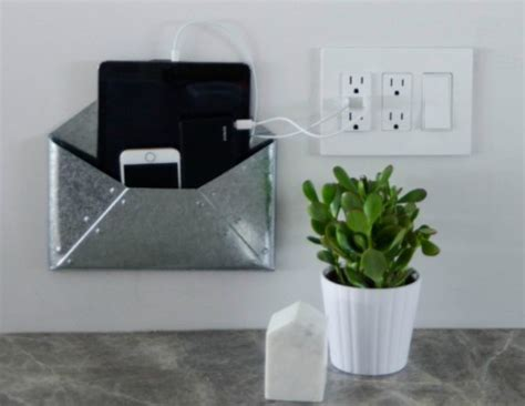 wall hanging charging station wall mounted diy charging station diyideacenter com