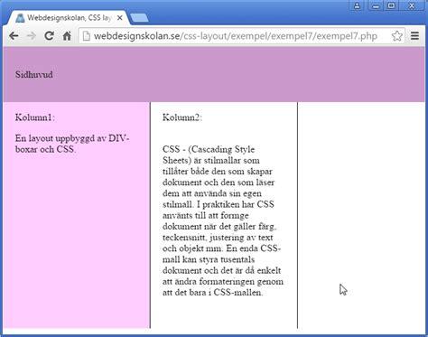 css layout in php webdesignskolan css layout