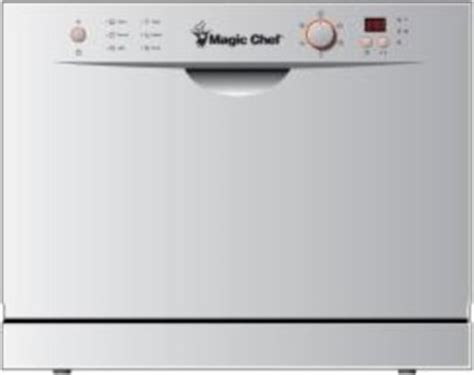 Magic Chef Countertop Dishwasher by Magic Chef 6 Place Setting Countertop Dishwasher White