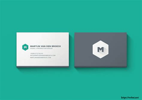 Minimalist Business Cards Templates Psd by 50 Free Best Business Card Psd Templates Mockups Web Net