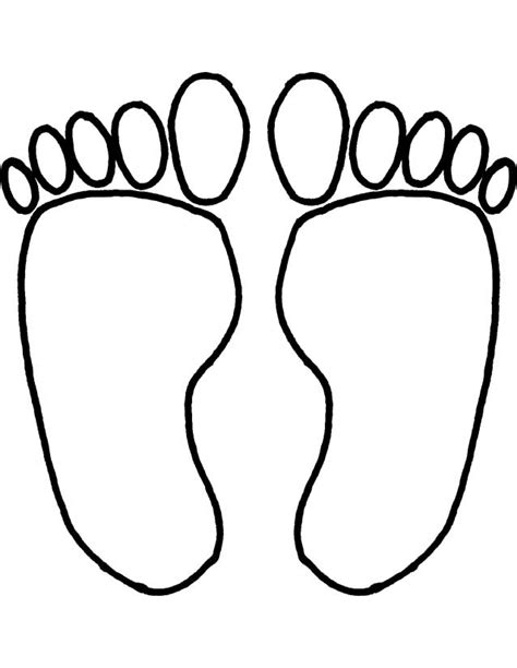 coloring pages of baby feet cartoon baby feet cliparts co