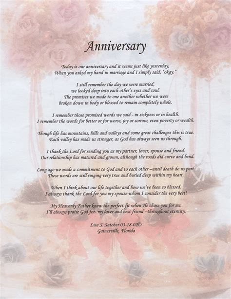 25th Wedding Anniversary Religious Quotes by Anniversary Poem Original Inspirational Christian