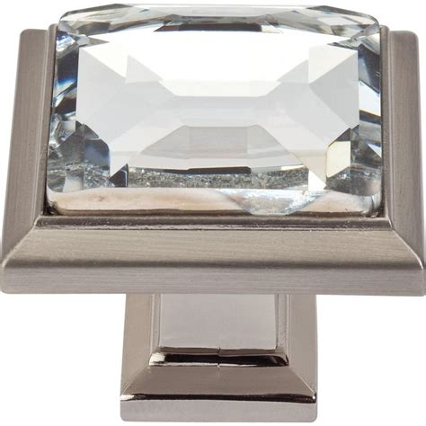 square brushed nickel cabinet pulls atlas homewares legacy crystal collection 1 1 4 in
