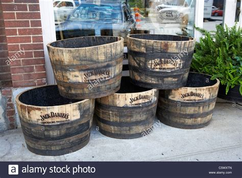 barrels for sale half whiskey barrels for sale in at the hardware store stock photo royalty free