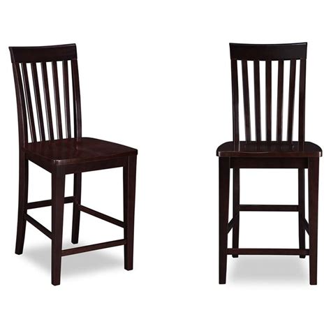 atlantic bar stools atlantic furniture mission bar stool in espresso set of 2
