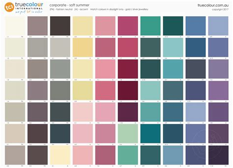 soft summer color palette soft summer poster corporate true colour international