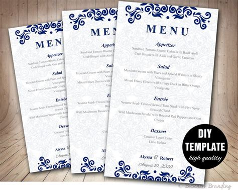 Corporate Menu Card Template by 25 Menu Card Template Ideas On Fast