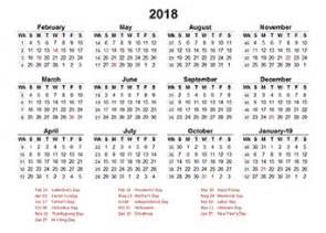 Calendar 2018 Template Png 2018 Accounting Calendar Templates Free