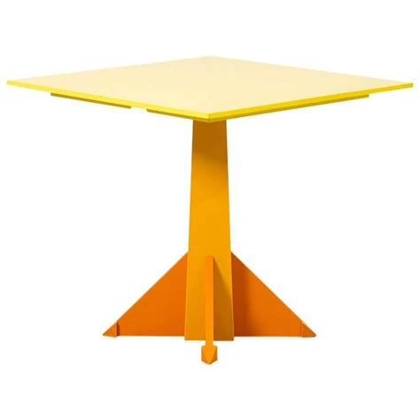 Yellow Dining Table Castelli Ferrieri Postmodern Yellow Dining Table For Kartell Italy At 1stdibs