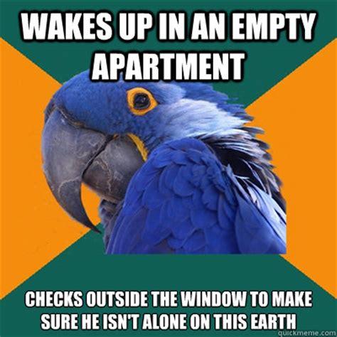 Apartments Background Check Paranoid Parrot Memes Quickmeme