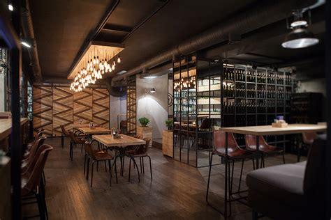 Bar A Vin Moderne by Projet D Int 233 Rieur Dans Le Restaurant Barco Projet Vintage