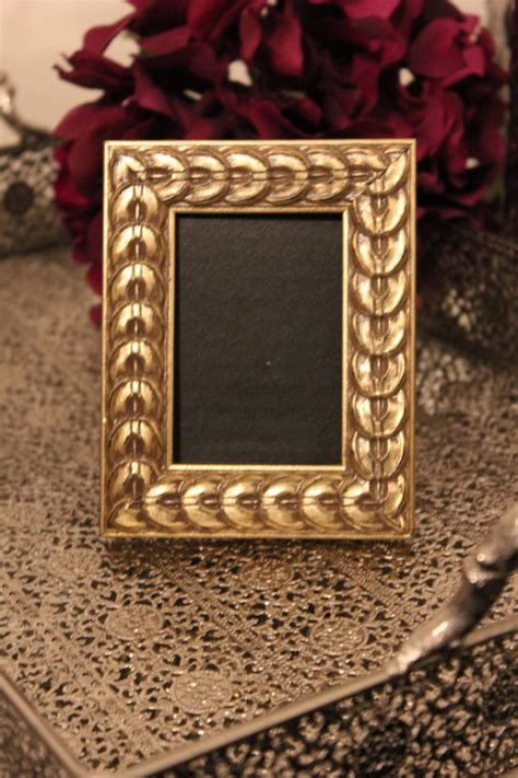 set of 6 magnetic gold frames picture frames by cb2 set of 6 vintage style gold picture frames gold chalkboard or
