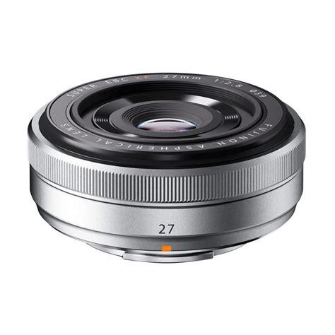 jual fujifilm fujinon xf 27mm f2 8 pancake silver lensa