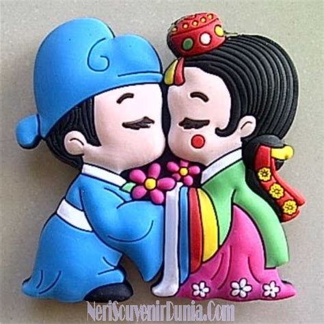 Gantungan Kunci Korea Rubber Souvenir jual souvenir magnet kulkas pasangan korea c