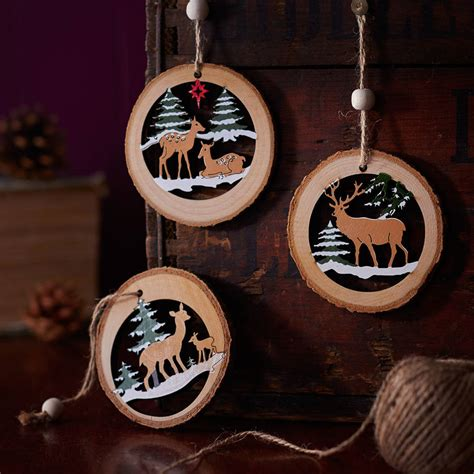 Exceptional Christmas Reindeer Decorations #8: Original_log-cut-out-christmas-tree-decoration.jpg