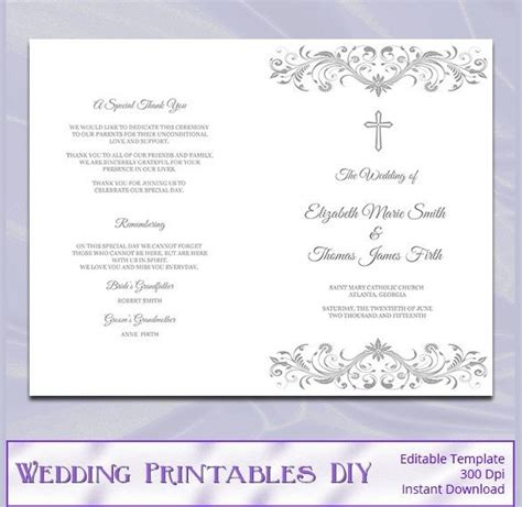 Catholic Wedding Program Template Free Beepmunk Program Template Docs