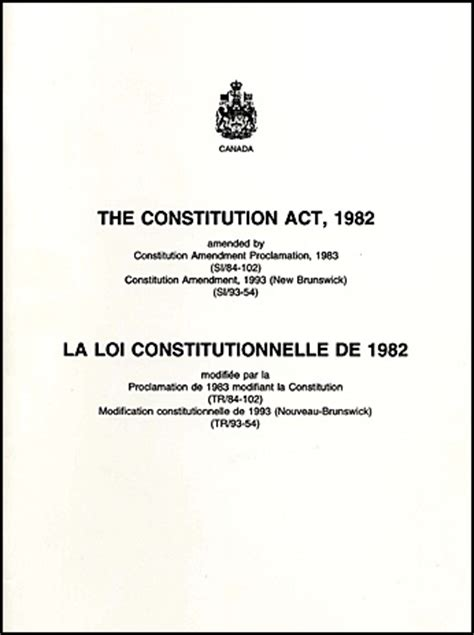 Opinions On Section Thirty Five Of The Constitution Act 1982