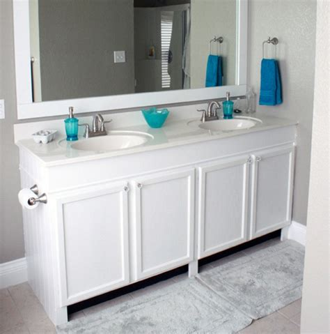 How To Raise A Bathroom Vanity Cabinet remodelaholic how to raise up a vanity