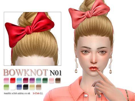 Hair Bow Sims 4 Custom Content | hair bow sims 4 custom content