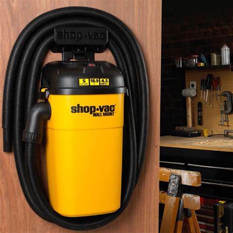 Garage Shop Vac by Shop Vac Wall Mount 5 Gal 4 5 Peak Hp Vacuum