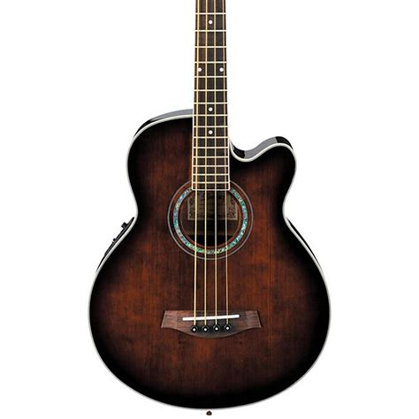 acoustic bass ibanez aeb10e acoustic electric bass guitar with onboard