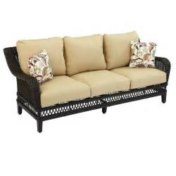 textured couch hton bay woodbury patio sofa with textured sand cushion