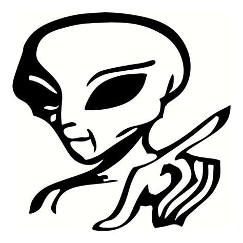 cool decals alien sticker funny stickers cool stickers car decal