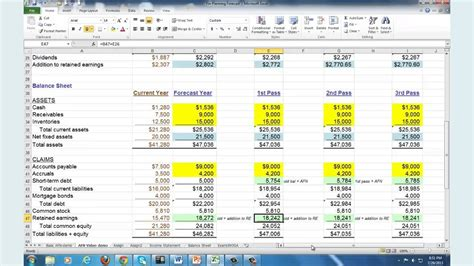 financial business plan template excel financial planning forecasting spreadsheet modeling