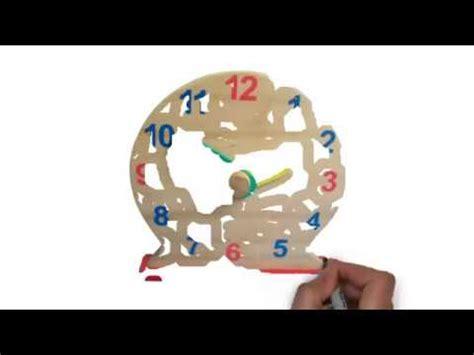 Mainan Jam Kayu mainan kayu edukasi jam
