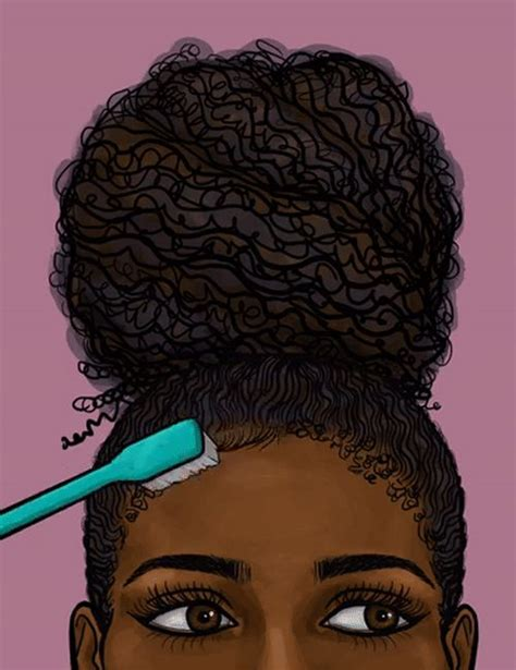 natural hairstyles cartoon go follow blackgirlsvault for more celebration of black