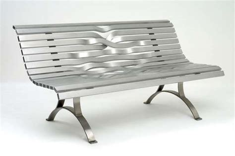 aluminum bench seating twisted metal seats aluminum bench