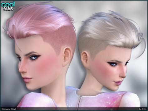 shaved hair sims 4 sims 4 hairs the sims resource harmony hair by anto