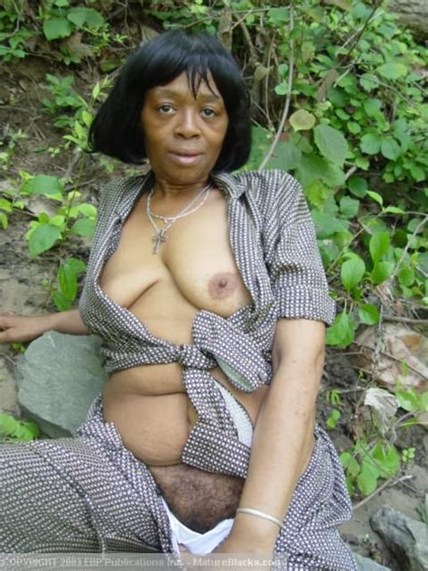 black granny getting naked outdoors and exp xxx dessert