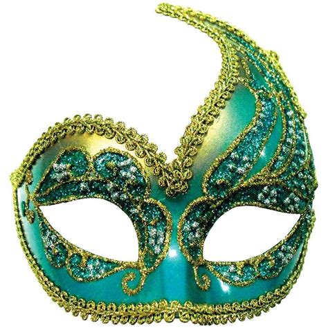 turquoise gold half masquerade mask decorative