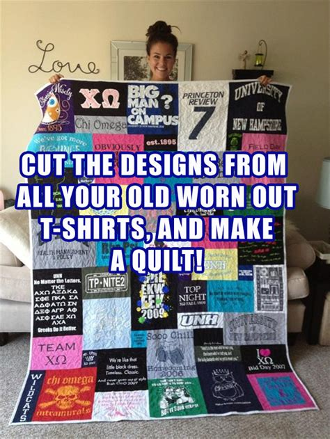 Make Quilt Out Of T Shirts by Take Tshirts And Make A Quilt Out Of Them Dump A Day