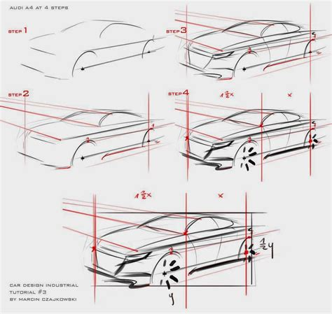 Create Pattern Sketch 3 | car design education tips car sketch tutorial by marcin