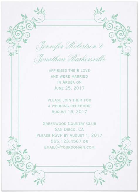post reception invitation wording sles 21 beautiful at home wedding reception invitations destination wedding details
