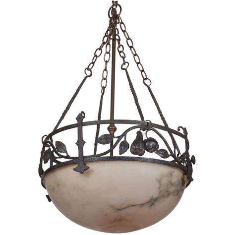 Pendulum Chandelier Alabaster Globe Pendulum Chandelier At 1stdibs