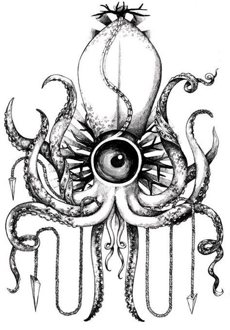 tattoo nightmares octopus squid by zosia olenska via behance space dust