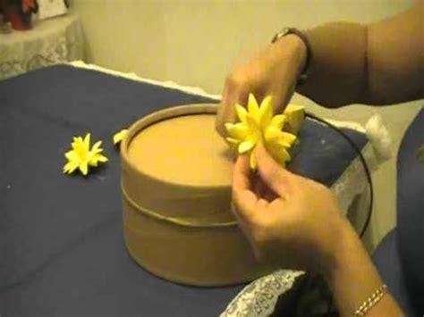 como hacer flores de goma eva como hacer una caja decorada con flores en goma eva youtube
