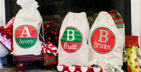 personalized christmas bags