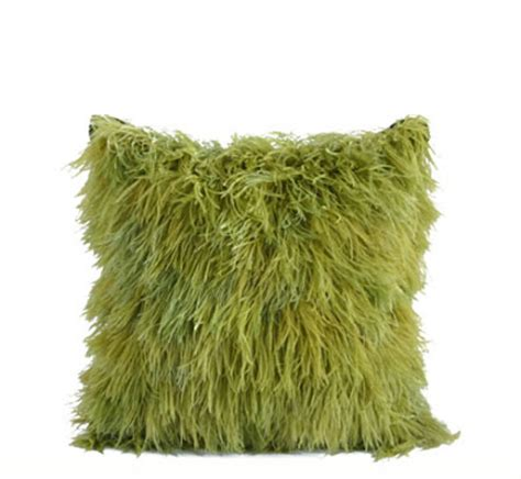 Ostrich Feather Pillow by J Baglino Jr Interior Design Splash Of Color