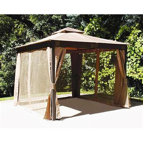 gazebo 10x10 10 x 10 square post gazebo replacement canopy riplock