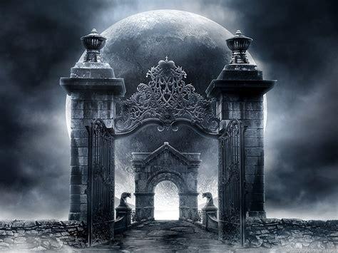 fantasy art gates gargoyles wallpapers hd desktop