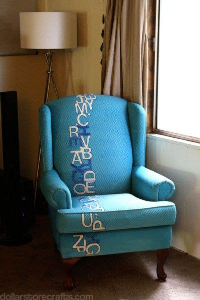 imagine fabric paints amazing typography chair redo by mann she used simply spray upholstery fabric paint in