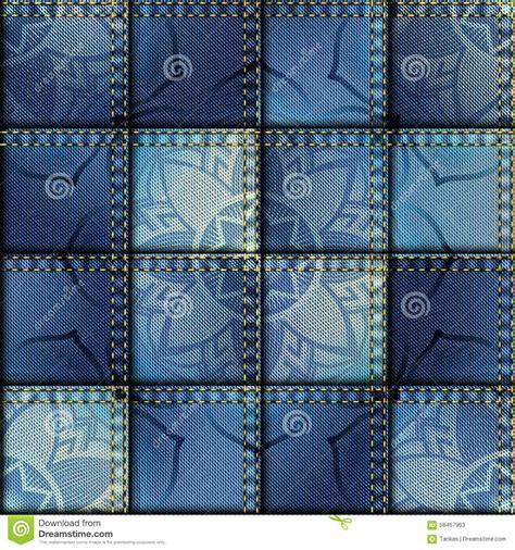 Patchwork Denim Fabric - patchwork of denim fabric stock vector image 58467963