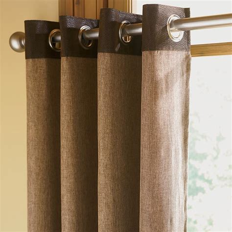 faux leather curtains brown faux leather curtains leather and herringbone