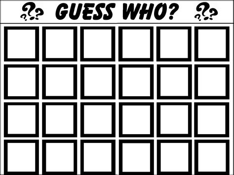 board template pdf guess who template things to