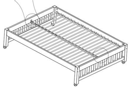 bed support beams metal slat support rail for one bed kfs stores